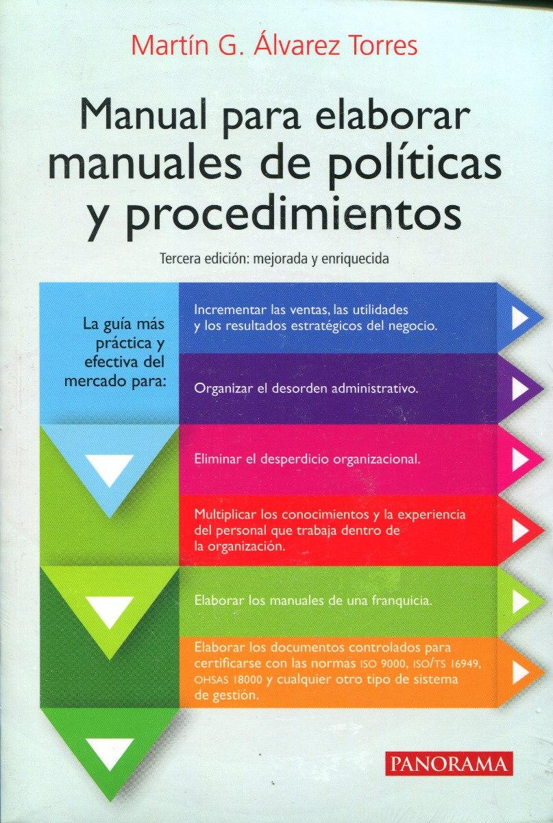manual para elaborar manual de políticas y procedimientos pdf