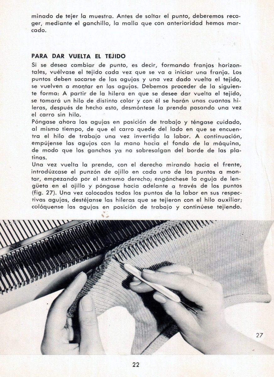 Manual Para Máquina De Tejer Knittax Automatic, Digt. En Pdf - $ 90 ...