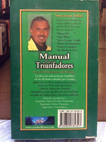 manual para triunfadores. suryavan solar. superación.