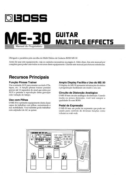 manual pedaleira boss me 30 portugu s pdf r 10 00 em rh produto mercadolivre com br boss me-30 manual download boss me 30 user manual pdf