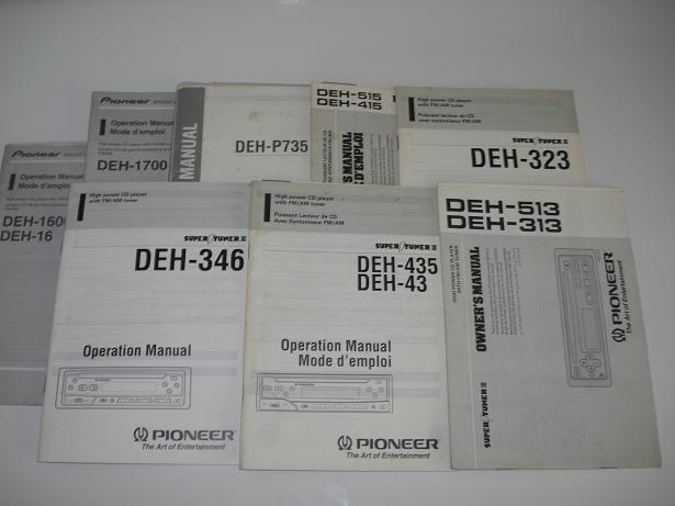 radio e cd player pioneer deh 435 346 246 com manual de loja som