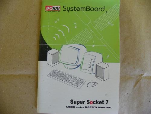 manual placa mae m598 pc100