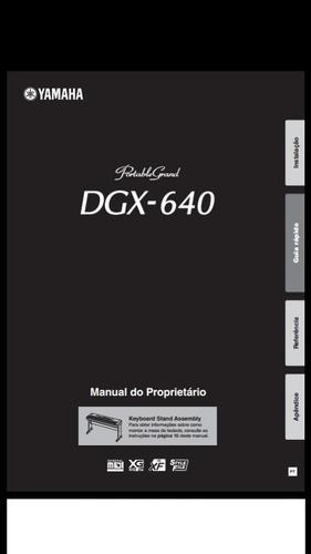 manual portugues teclado yamaha dgx 640 - pdf