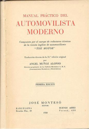 manual práctico del automovilista moderno