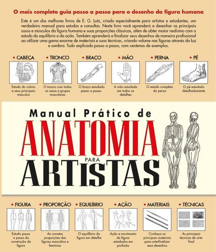manual pratico de anatomia para artistas - editora criativo
