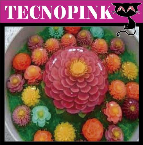 manual preparación gelatinas 3d florales faln dulces +regalo