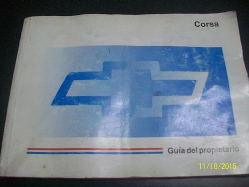 manual propietario original  chevrolet corsa 1997