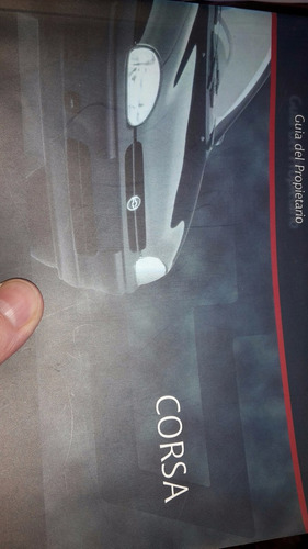 manual propietario original  chevrolet corsa 1998