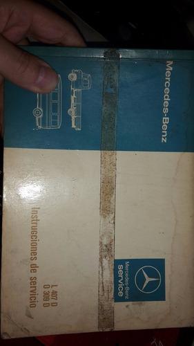 manual propietario original  mercedes l407d 309d