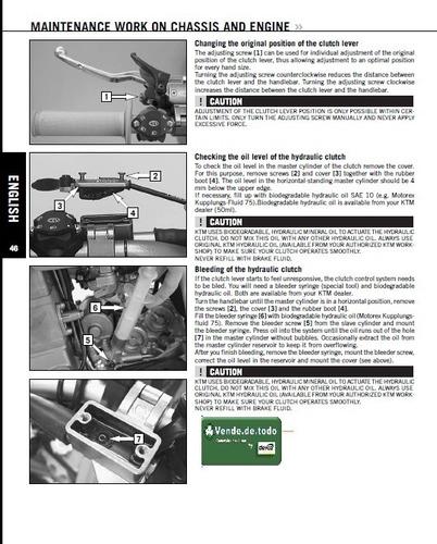 manual propietario usuario  motos ktm racing crate