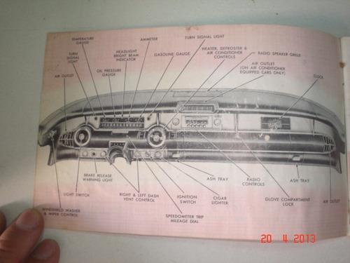 manual proprietário buick 1957 original catalogo gm series