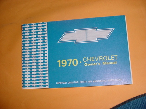 manual proprietario chevrolet impala caprice 70 1970