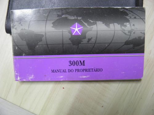 manual proprietário chrysler 300m 1999 completo
