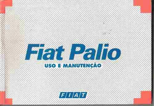 manual proprietário fiat palio 2000 c/suplementos e bolsinha