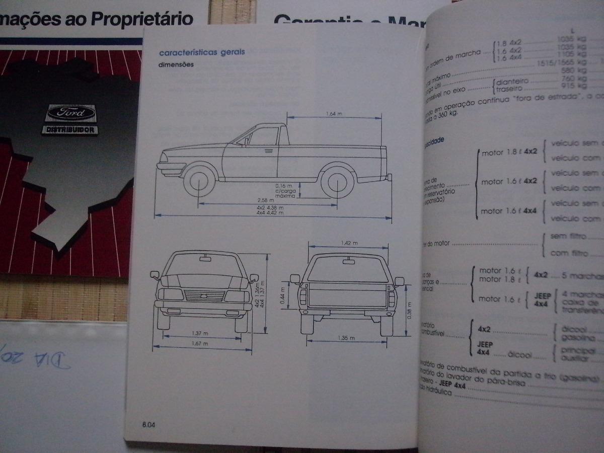 Manual Proprietário Ford Pampa 95 Original Compl. Impecável - R$ 390,00 em  Mercado Livre