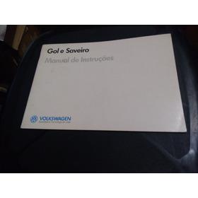 Manual Proprietário Gol E Saveiro 1988 89 Original Fábrica