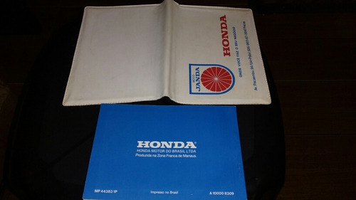 manual proprietario honda cb 400 + capa moto janda originais