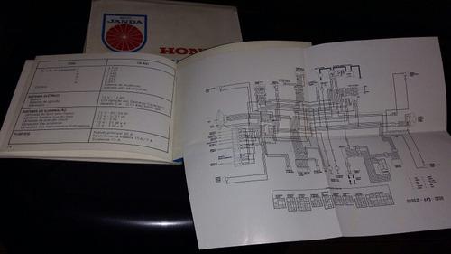 manual proprietario honda cb 400 + capa moto janda originais