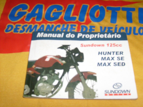 manual proprietario hunter max se max sed