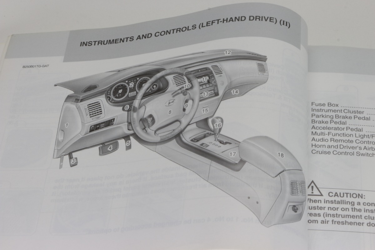 Manual Proprietario Hyundai Azera 33 2008 2009 Em Ingles R 100 Fuse Box Carregando Zoom