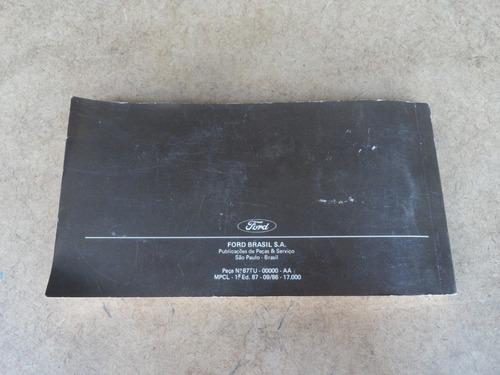 manual proprietário instruções f-1000 f-4000 85 88 original