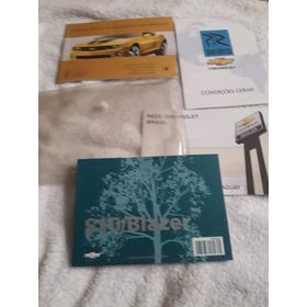 Manual Proprietário S10 Ou Blazer 2010 2011 Em Branco Novo