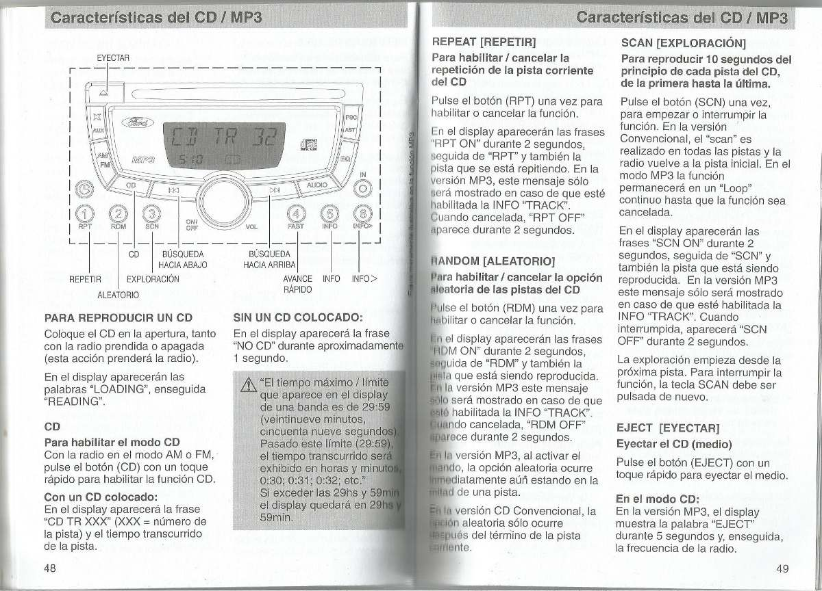 Manual Proprietario Som Ford Ecosport Guia Audio Visteon