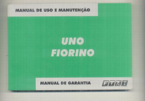 manual proprietário  uno ou fiorino 2004 c/bolsinha plástica