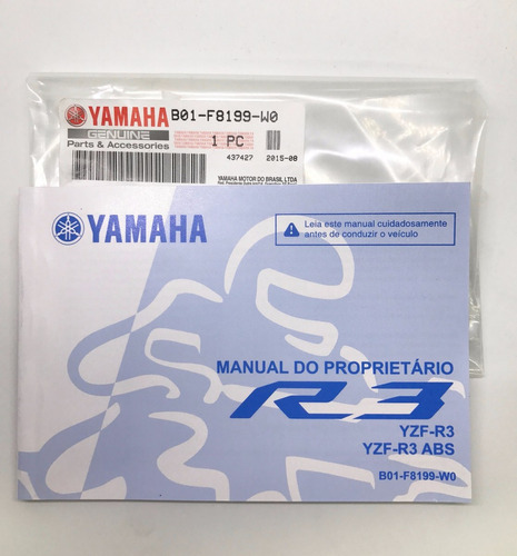 manual proprietário yzf r3 yamaha