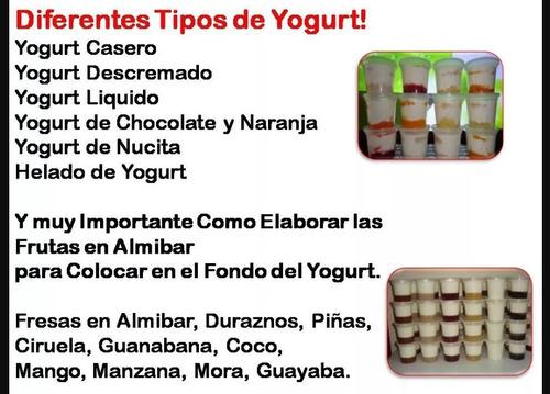 manual quesillos y yogurt en envases
