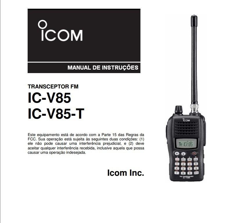 manual r dio transceptor icom ic v85 em portugu s r 25 00 em rh produto mercadolivre com br Icom Ic- 4214 VHF Marine Radio ICOM IC- 706