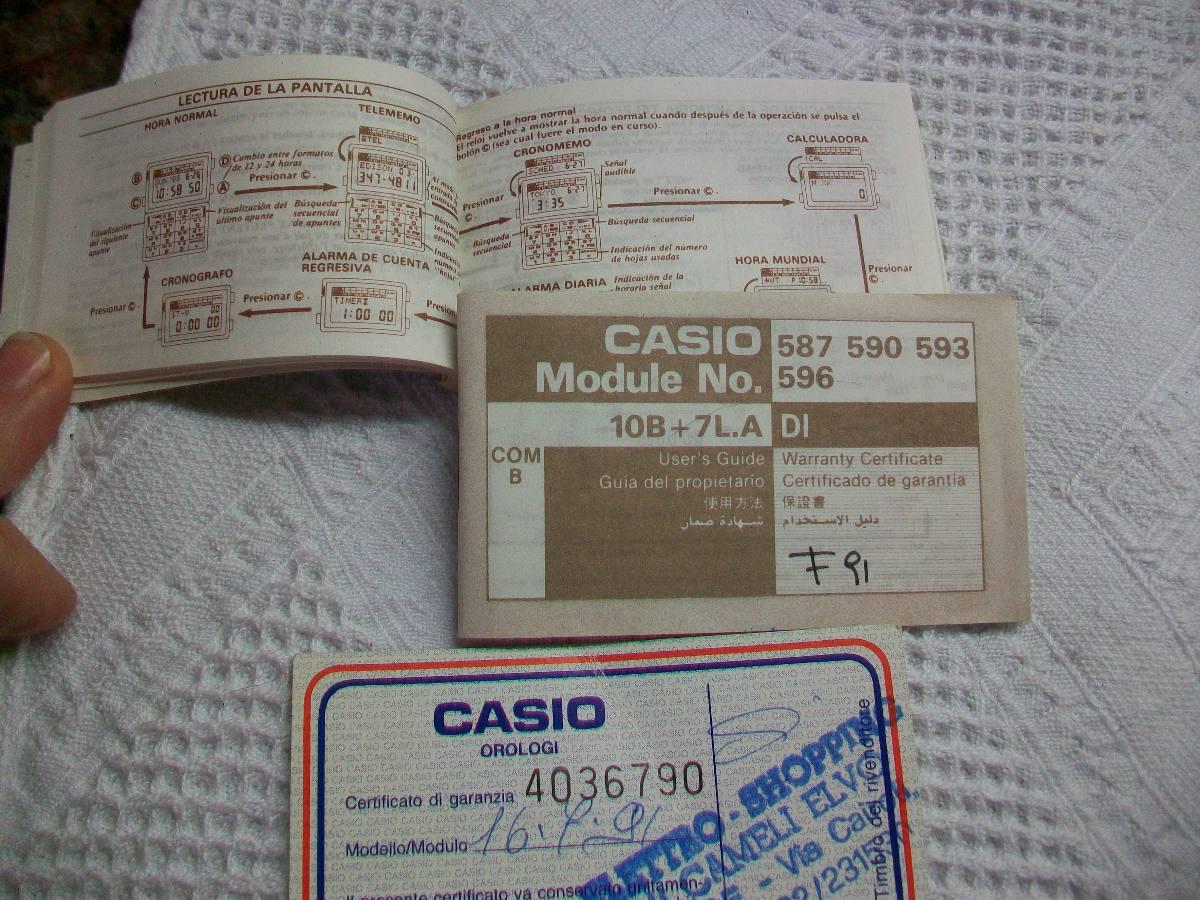203e8e0f0aaa manual reloj casio telememo 1991 instrucciones garantia. Cargando zoom.