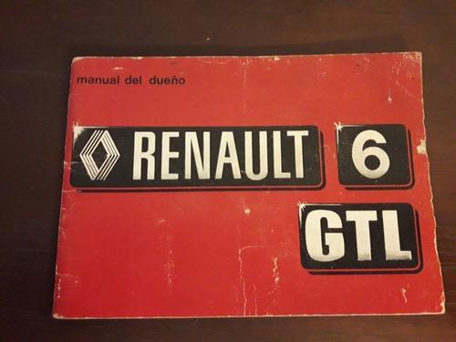 manual renault 6 gtl 1979