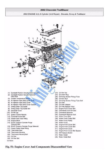 manual reparacion chevrolet trailblazer 2001-2009 *