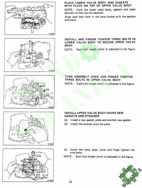 Manual Reparacion Transmision A130 Caja Toyota Corolla