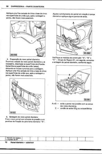 manual reparações carroceria 50 ao 55 passat antigo