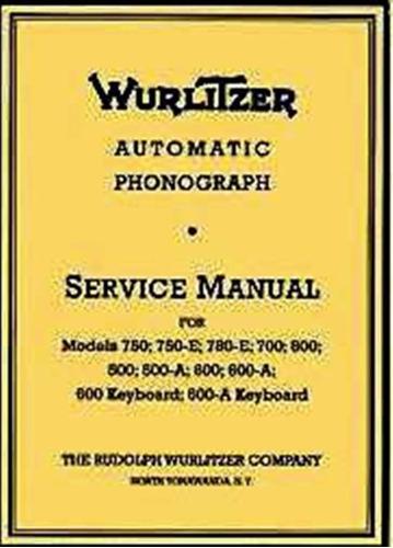 manual rockola wurtlitzer 500 - 800 (virtual)