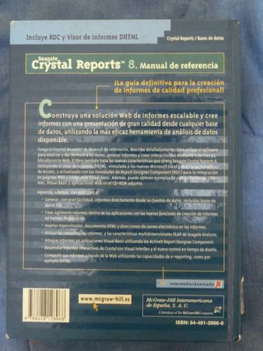 manual seagate crystal report 8 -  george peck - mcgraw hill