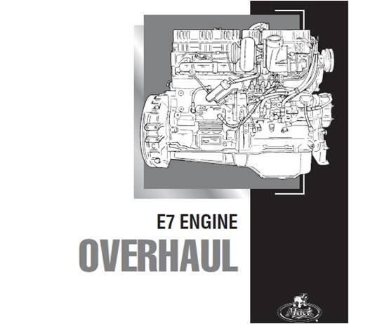 Manual       Service    Mack Engine E7 Y Diagrama Electrico Granite  Bs 0 02 en Mercado Libre