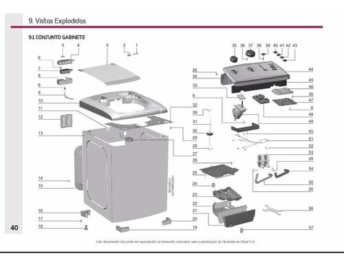 manual serviço lavadora electrolux lt11f 10kg top load pdf
