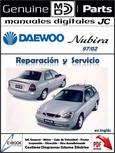 manual taller daewoo nubira 97-02 completo y original