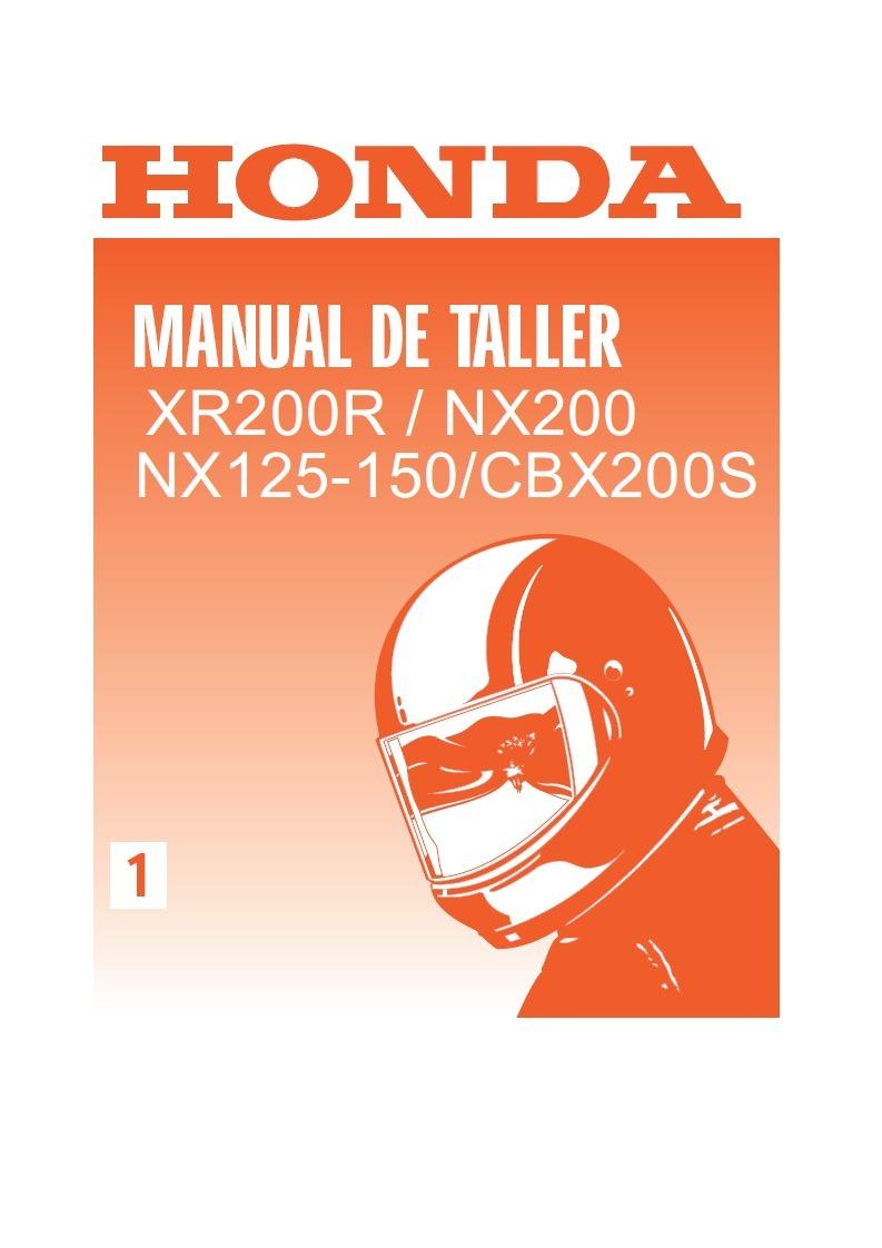 manual taller honda xr 200 cbx 200 nx 125 150 espa ol 189 00 rh articulo mercadolibre com ar manual de taller honda xr 250 tornado gratis Honda XR 250