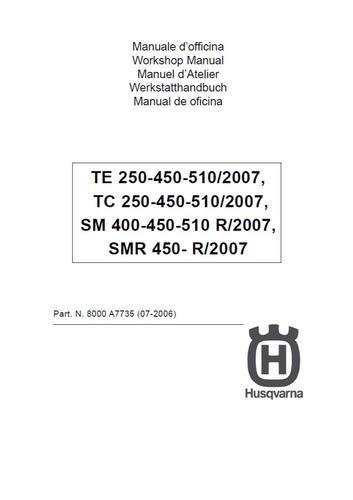 manual taller husqvarna 510