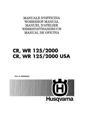 manual taller husqvarna cr 125 wr 125