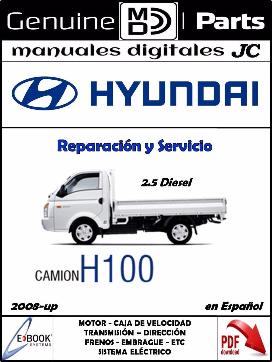 Manual de taller hyundai h100 gasolina / diesel pdf bs. 500,00.