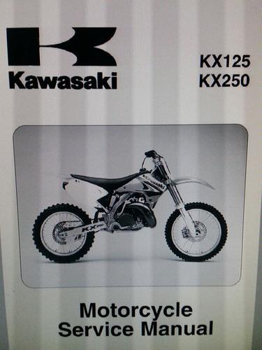 manual taller kawasaki kx 125 y 250 2003 2004 2005 2006 2007