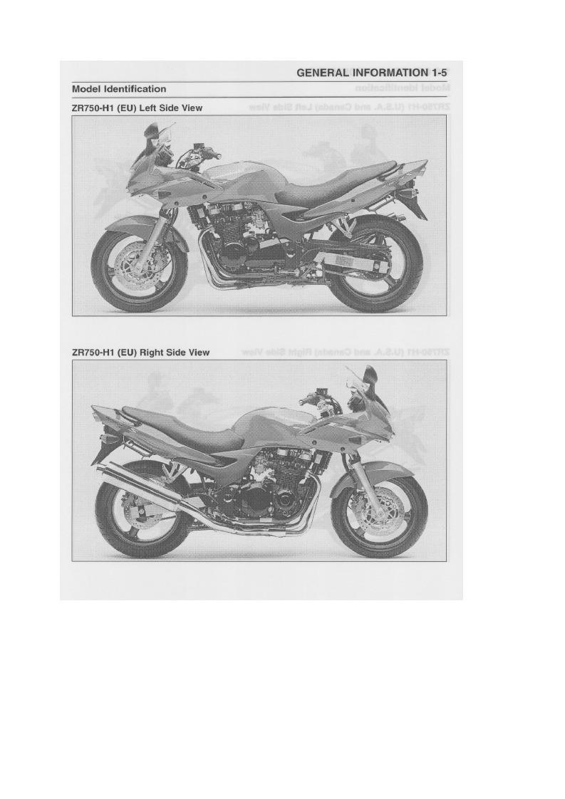 Manual Taller Kawasaki Zr 7 750 H1 H2 12900 En Mercado Libre