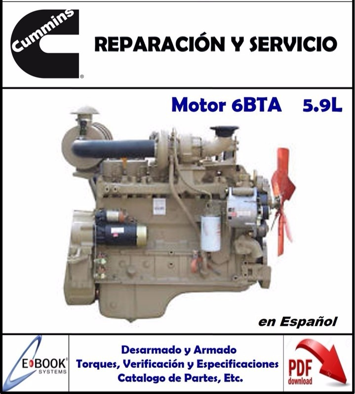 manual taller motor cummins 6bta 5 9l espa ol bs 60 95 en mercado rh articulo mercadolibre com ve cummins 6bta manual pdf Cummins 6BTA Review