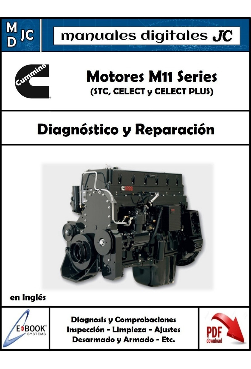 Manual Taller Motor Cummins M11 Original Stc  Celect (plus)