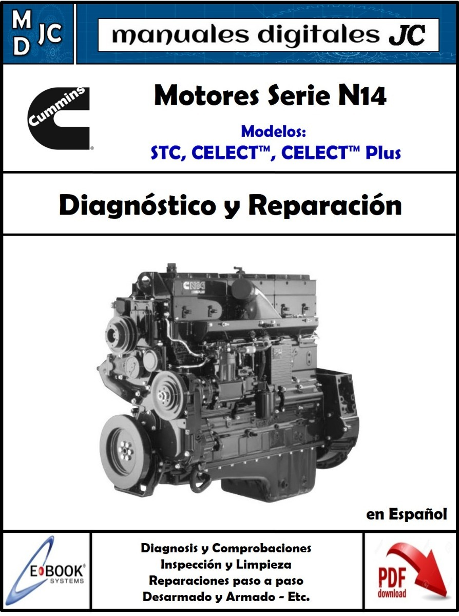 Manual Taller Motor Cummins N14 Stc, Celect (plus) Español